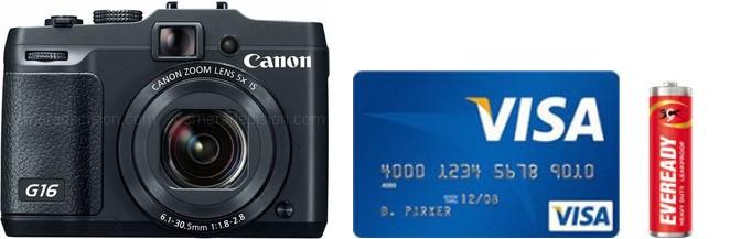 Canon G16 Real Life Body Size Comparison
