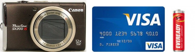 Canon SX200 IS Real Life Body Size Comparison
