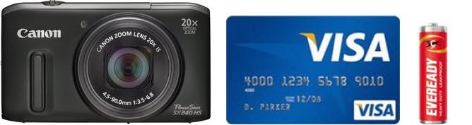 Canon SX240 HS Real Life Body Size Comparison