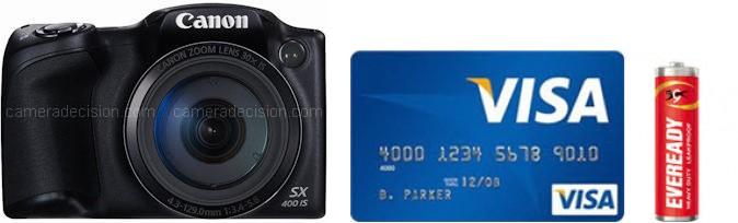 Canon SX400 IS Real Life Body Size Comparison