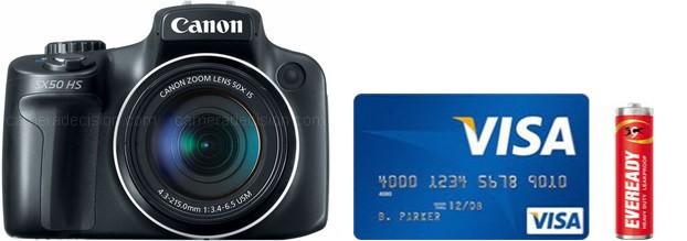 Canon SX50 HS Real Life Body Size Comparison
