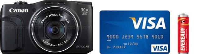 Canon SX700 HS Real Life Body Size Comparison