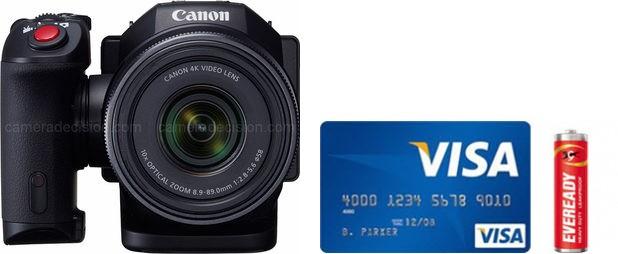 Canon XC10 Real Life Body Size Comparison