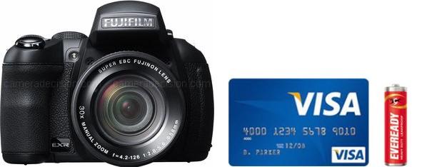 Fujifilm HS50 EXR Real Life Body Size Comparison