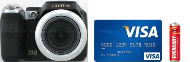 Fujifilm S8100fd Real Life Body Size Comparison