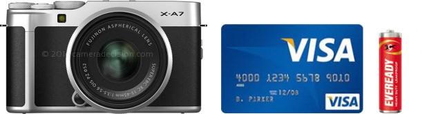 Fujifilm X-A7 Real Life Body Size Comparison