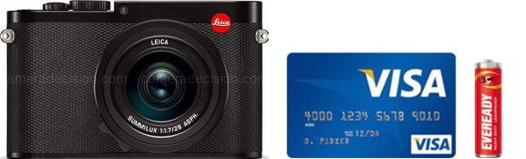 Leica Q Real Life Body Size Comparison
