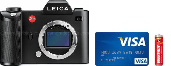 Leica SL Real Life Body Size Comparison
