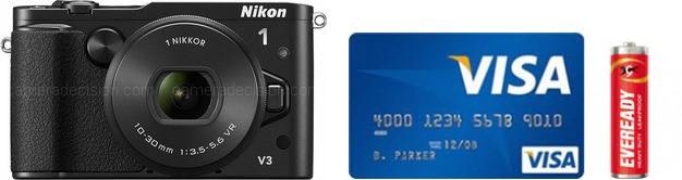 Nikon 1 V3 Real Life Body Size Comparison