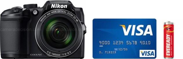 Nikon B500 Real Life Body Size Comparison