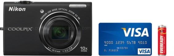Nikon S620 Real Life Body Size Comparison