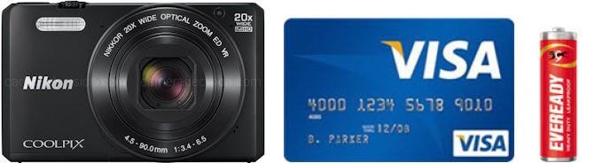 Nikon S7000 Real Life Body Size Comparison