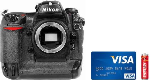 Nikon D2Hs Real Life Body Size Comparison