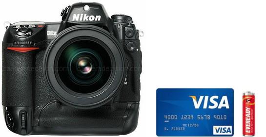 Nikon D2X Real Life Body Size Comparison