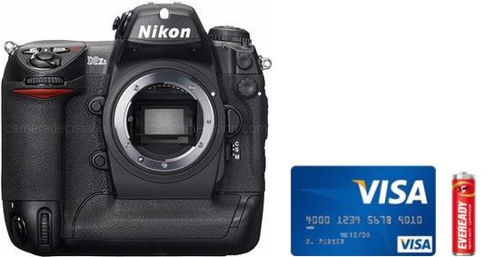 Nikon D2Xs Real Life Body Size Comparison