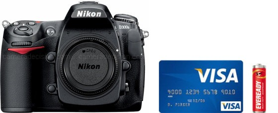 Nikon D300S Real Life Body Size Comparison
