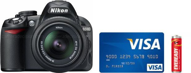 Nikon D3100 Real Life Body Size Comparison