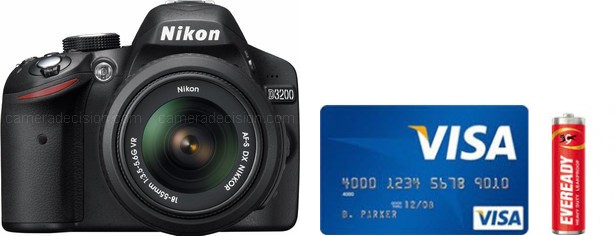 Nikon D3200 Real Life Body Size Comparison