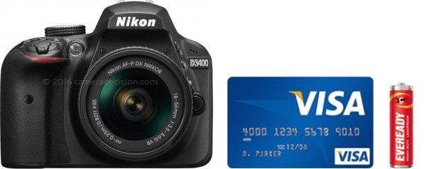 Nikon D3400 Real Life Body Size Comparison