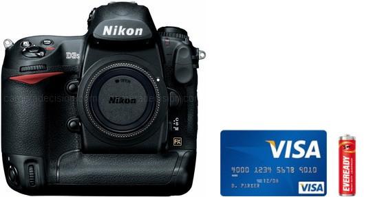 Nikon D3S Real Life Body Size Comparison
