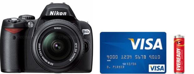 Nikon D40X Real Life Body Size Comparison