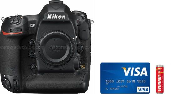Nikon D5 Real Life Body Size Comparison