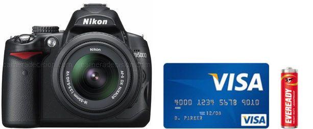 Nikon D5000 Real Life Body Size Comparison