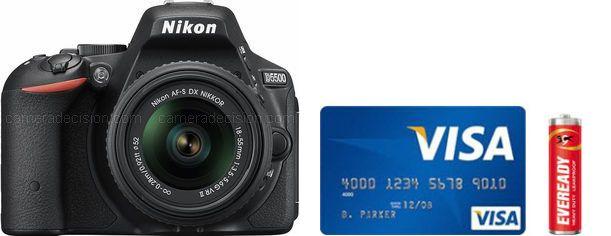 Nikon D5500 Real Life Body Size Comparison