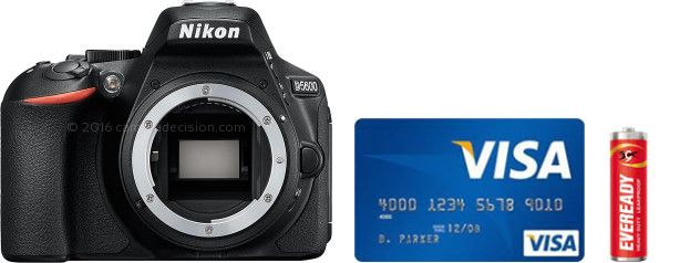 Nikon D5600 Real Life Body Size Comparison