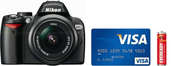 Nikon D60 Real Life Body Size Comparison