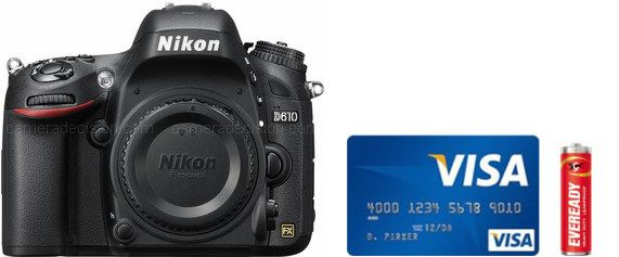 Nikon D610 Real Life Body Size Comparison