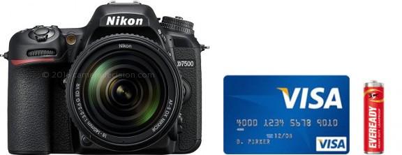 Nikon D7500 Real Life Body Size Comparison