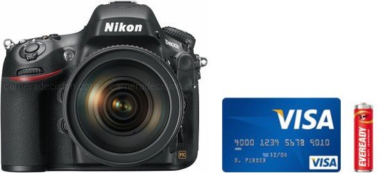 Nikon D800 Real Life Body Size Comparison