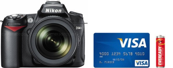 Nikon D90 Real Life Body Size Comparison