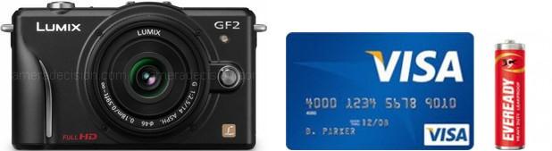 Panasonic GF2 Real Life Body Size Comparison