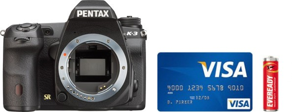 Pentax K-3 Real Life Body Size Comparison