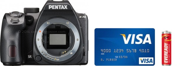 Pentax K-70 Real Life Body Size Comparison