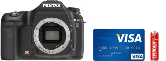 Pentax K10D Real Life Body Size Comparison