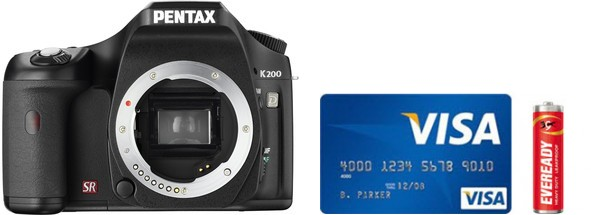 Pentax K200D Real Life Body Size Comparison