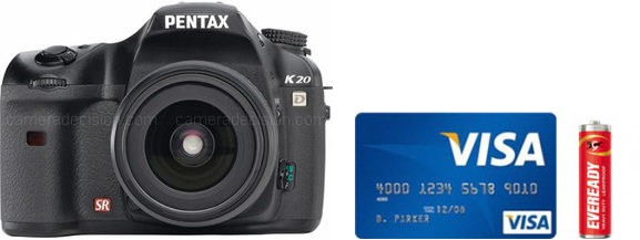 Pentax K20D Real Life Body Size Comparison