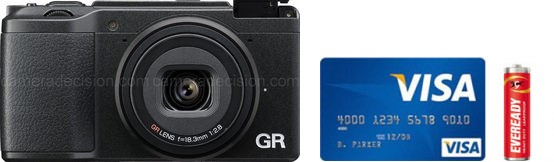 Ricoh GR II Real Life Body Size Comparison