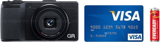 Ricoh GR Real Life Body Size Comparison