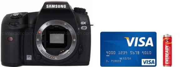Samsung GX-10 Real Life Body Size Comparison