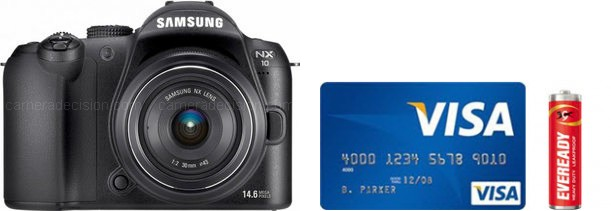 Samsung NX10 Real Life Body Size Comparison