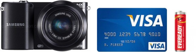 Samsung NX1000 Real Life Body Size Comparison