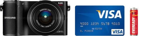 Samsung NX200 Real Life Body Size Comparison