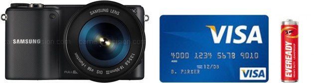 Samsung NX2000 Real Life Body Size Comparison
