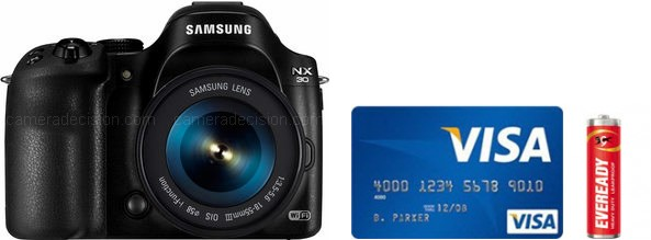 Samsung NX30 Real Life Body Size Comparison