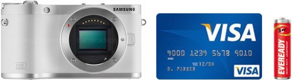 Samsung NX300 Real Life Body Size Comparison