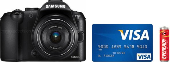 Samsung NX5 Real Life Body Size Comparison